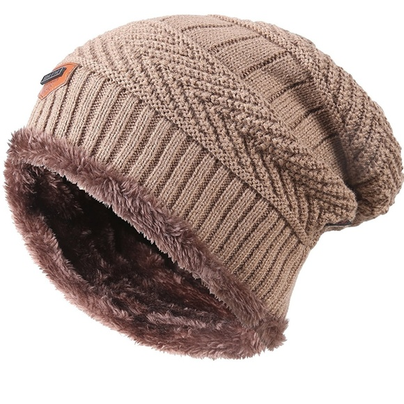 1faff3fc906 Winter Knitting Skull Cap Wool Slouchy Beanie Hat